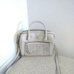 Kate Spade NY Beige Pebbled Leather Bag